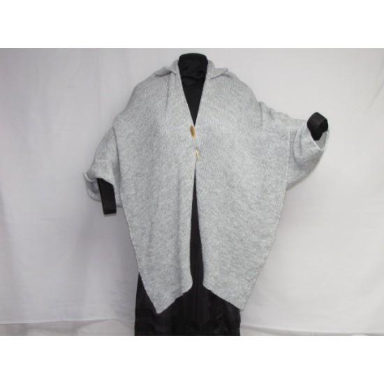 Châle - gris et blanc
