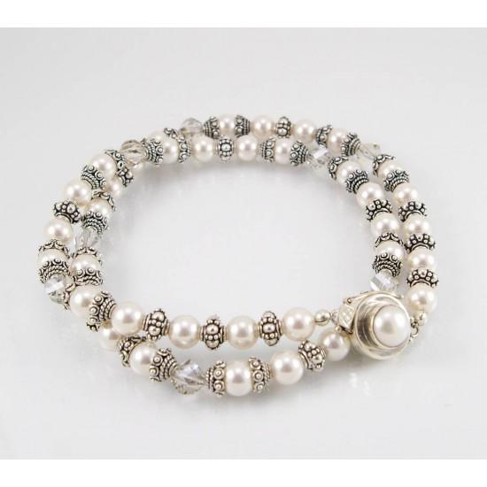 Collier de perles et cristal Swarovski