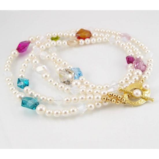 Collier perles et cristal Swarovski