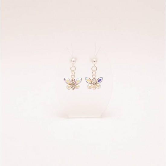 Boucles d'oreille papillon cristal Swarovski