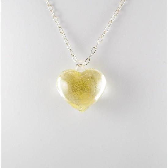 Coeur avec chaîne en argent sterling