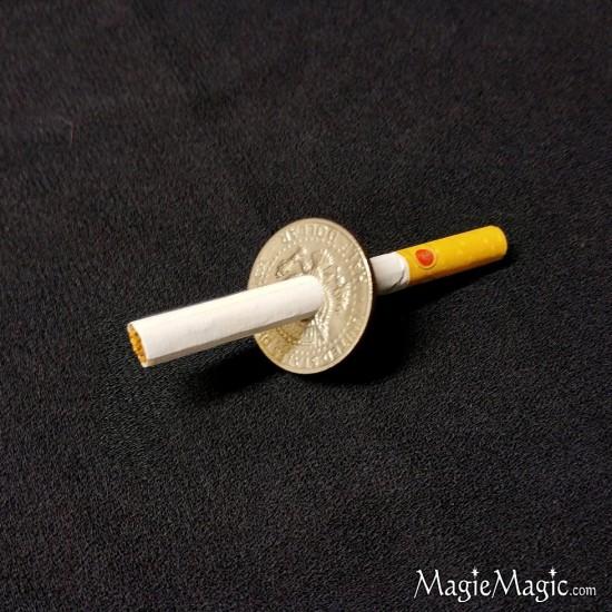 Cigarette Thru Half Dollar (spring)