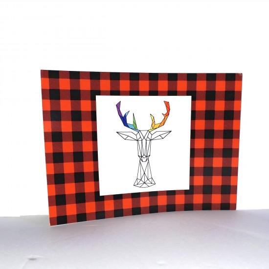 #17-012 Carte postale Carreauté rouge et noir...