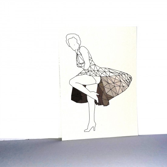 #17-095 Carte postale Marylin Gris