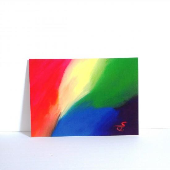 #18-081 Carte postale Peinture Arc-en-Ciel