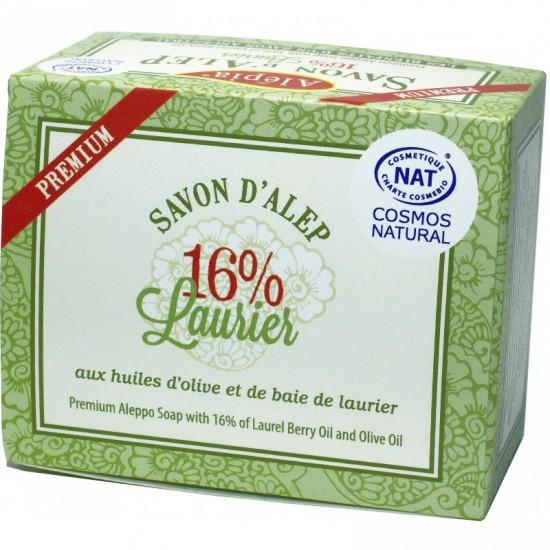 Savon d'Alep Premium 125g -16% Huile de Laurier