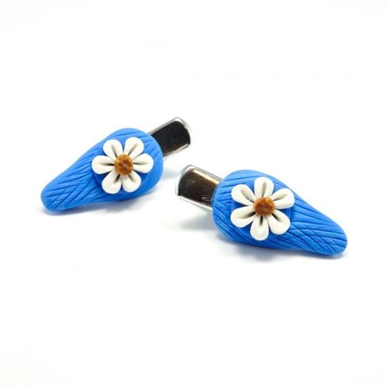 Mini-clip margerite bleue