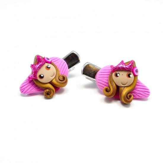 Mini-clip princesse brune