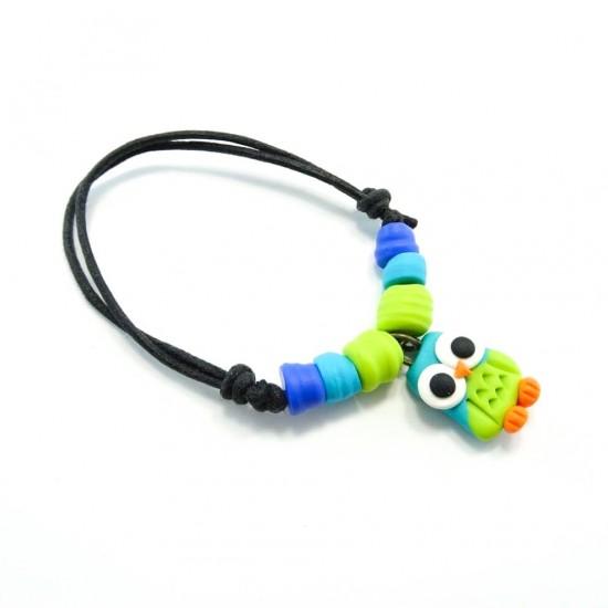 Bracelet hibou turquoise