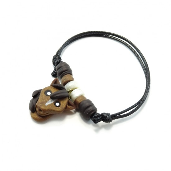 Bracelet cheval brun