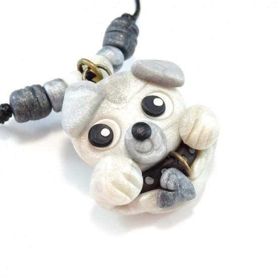 Collier chien blanc