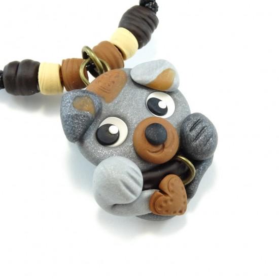 Collier chien gris