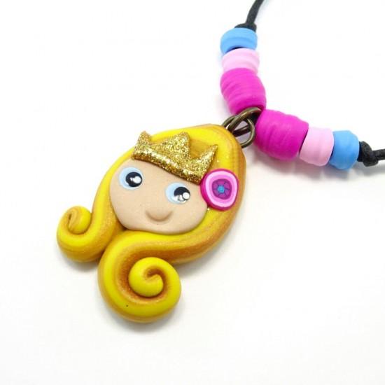 Collier princesse blonde