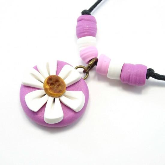 Collier marguerite rose