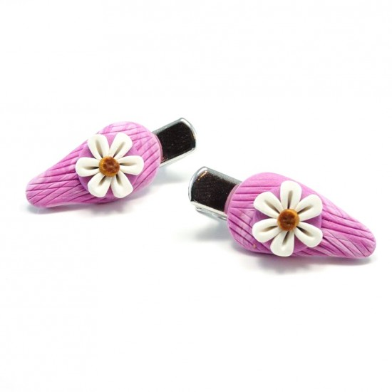 Mini-clip marguerite rose
