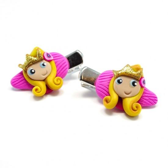 Mini-clip princesse blonde