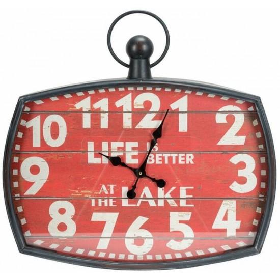 Horloge de métal w/life is better at the lake