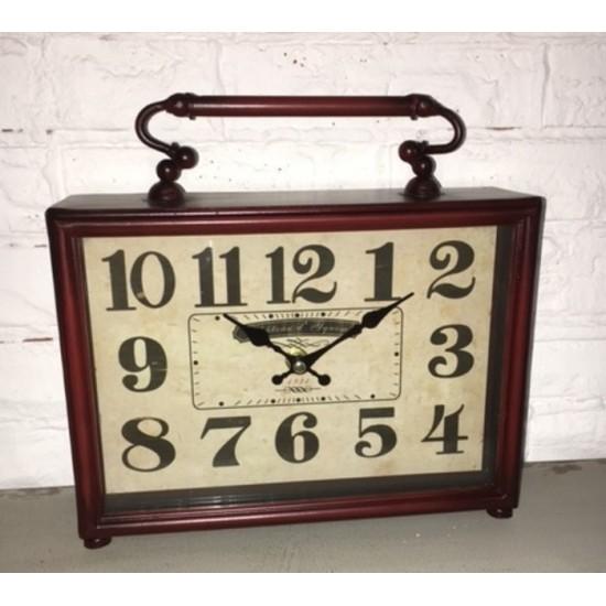 Horloge de Table en Métal /25x7,5x25hcm...
