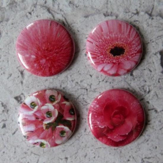 Badge texture -fleurs roses
