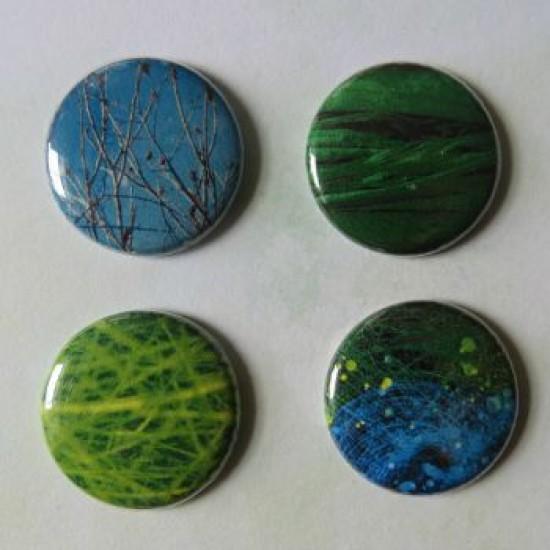 Badge texture- arc-en-ciel-bleu-vert