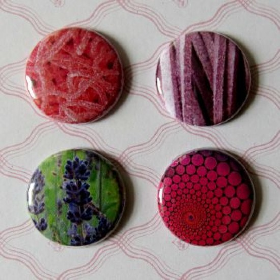 Badge texture- arc-en-ciel-rose-mauve