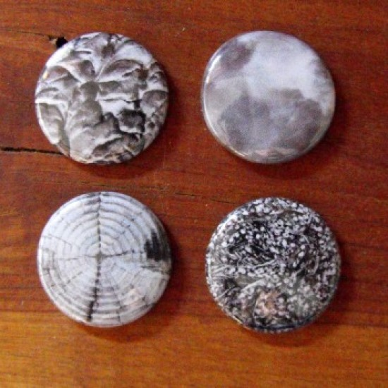 Badge texture gris
