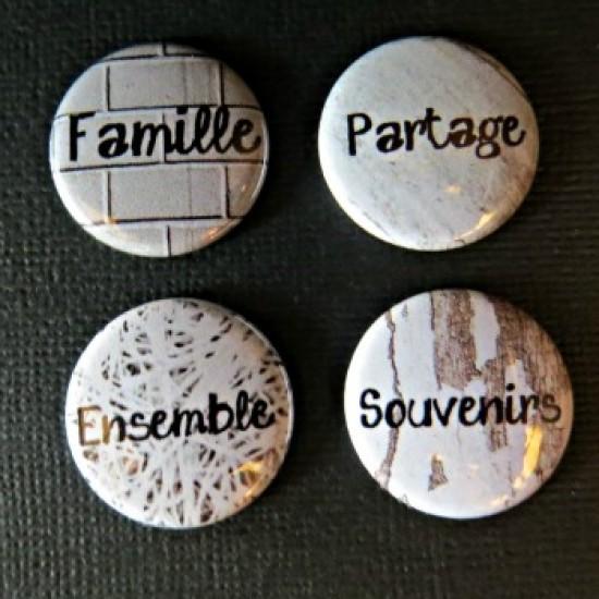 Badge mots-famille
