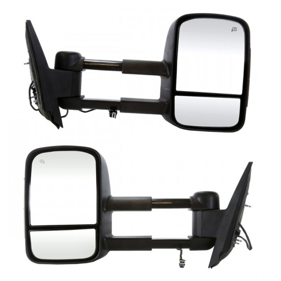 Pair Heated Power Towing Smoked Side Mirror...