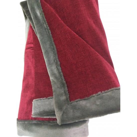 Couverture de carriole  rouge et taupe 53x58 po