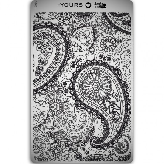 :YOURS PLATE   YLS03 - Paisley Heaven