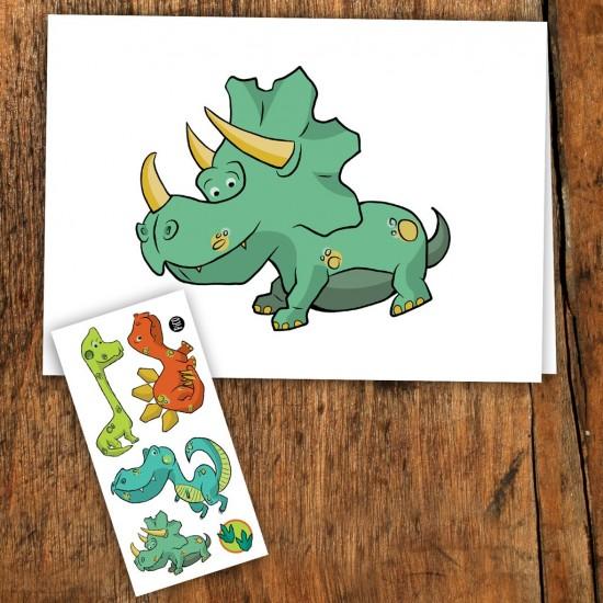 PICO Carte de souhait avec tatouages