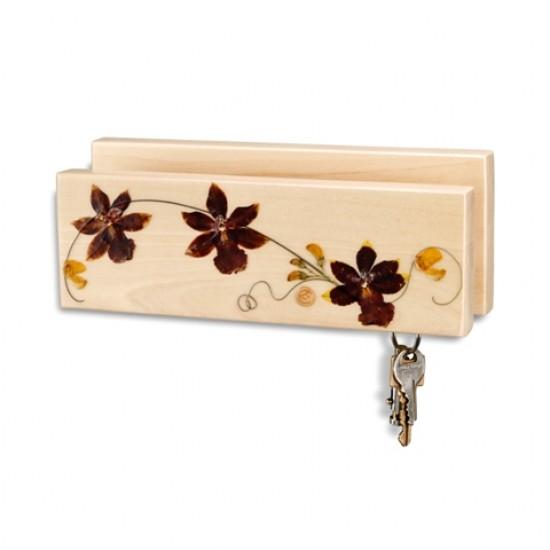 Porte-clés et lettres - Orchidée