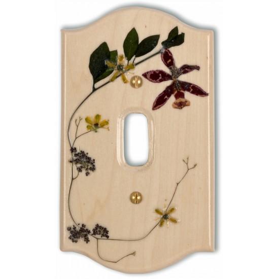 Plaque d'interrupteur à bascule - Orchidée