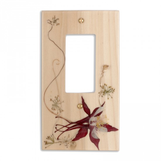 Plaque d'interrupteur Decora - Aquilegia
