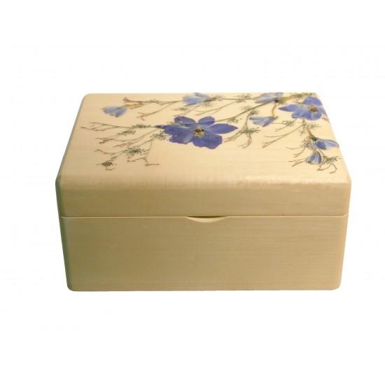 Boîte à tisanes rectangulaire -Delphinium