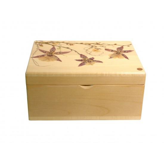 Boîte à tisanes rectangulaire - Orchidée & cobea