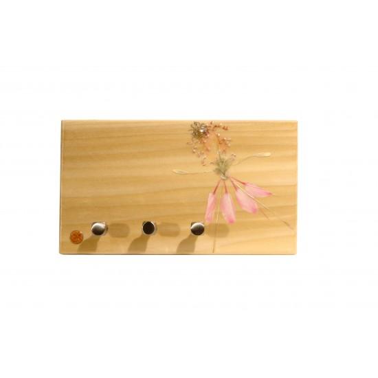 Plaque murale à 3 crochets - Porte-clés -La ballerine