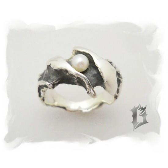 Bague en argent 925 avec perle #216