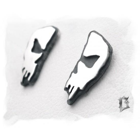 Boucles d'oreilles crâne en argent 925 #620.1