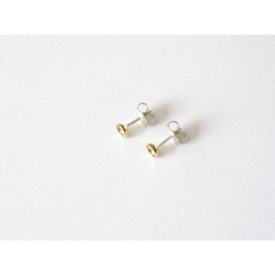 Boucles d'oreilles modernes en laiton.