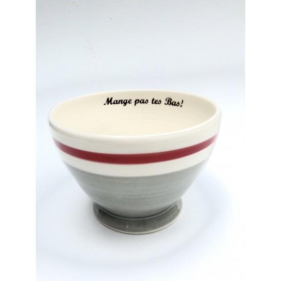Bol à café Bas de laine «Mange pas tes...
