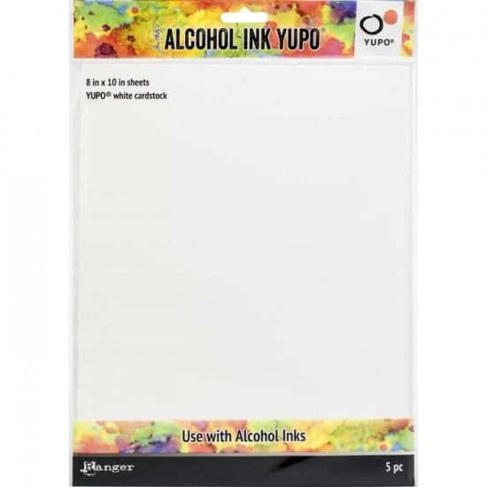 Tim Holtz - Papier blanc Yupo 8'' X 10'' pour...