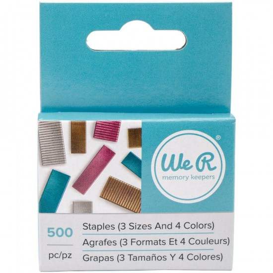 We R Memory Keepers - Agrafes de couleur (500)