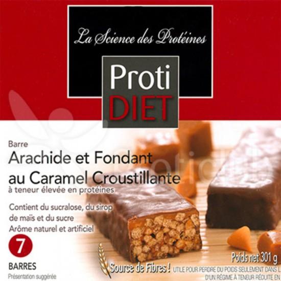 Barre arachides et fondant au caramel croustillant