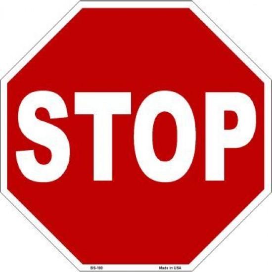 Metal Novelty Octagon Stop Sign BS-180