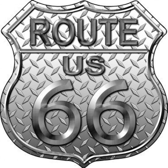 Route 66 Diamond  Metal Novelty Highway Shield...