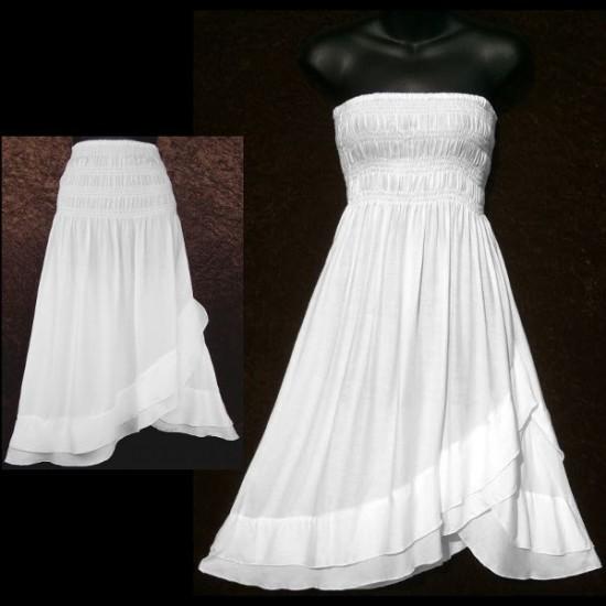 White Convertible Dress/Skirt (LARGE)