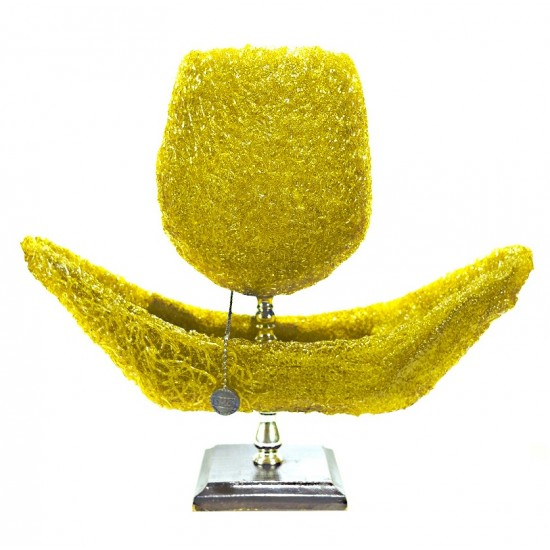 VINTAGE LAMPE DE TABLE SPAGHETTI ORANGE